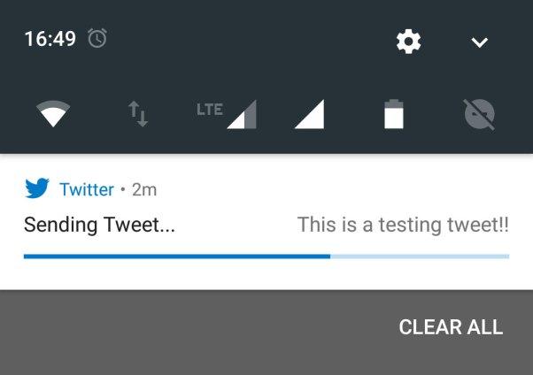 Sending Tweet