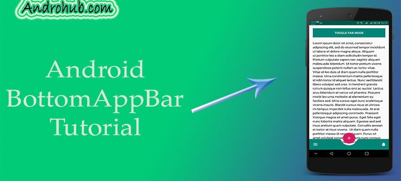 Implementing BottomAppBar - Material Components - Androhub