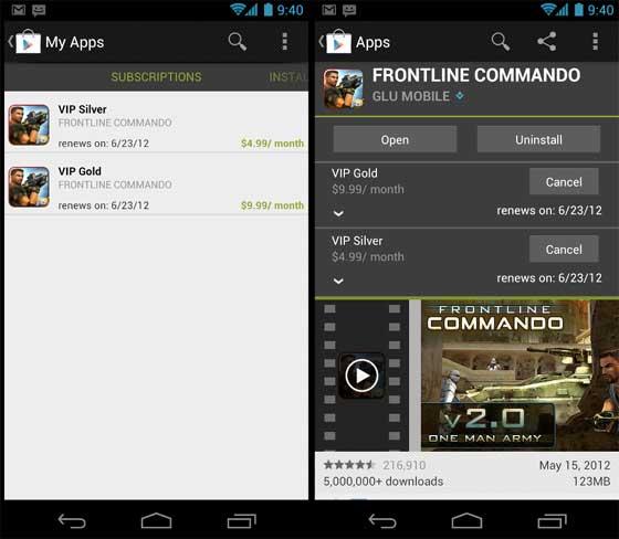 Google Play Subscription 訂閱式購買服務推出 | Android-APK