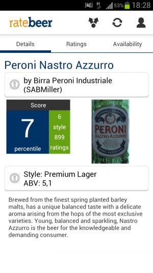 Die App RateBeer verrät, um welches Bier es sich handelt