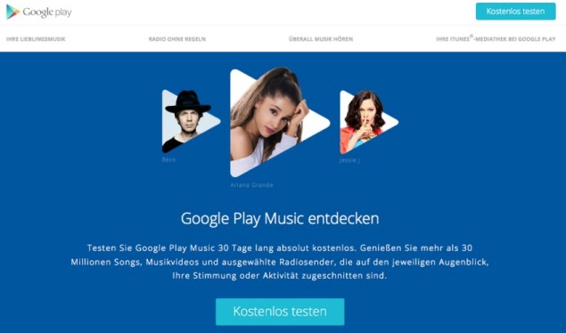 Google Play Musik Streaming