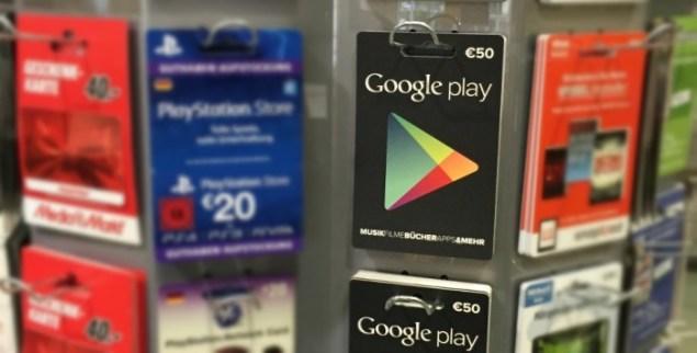 Google Play Guthabenkarten