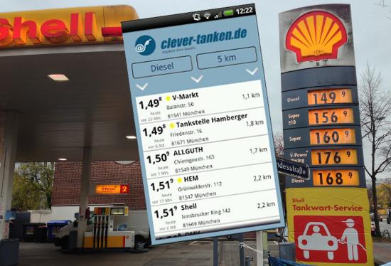 App Markttransparenz Benzin Diesel Preise