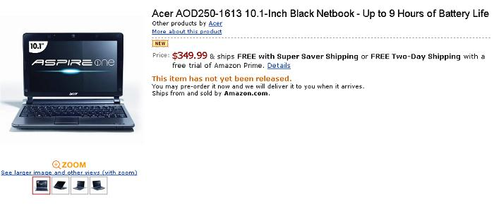 Android Acer su Amazon