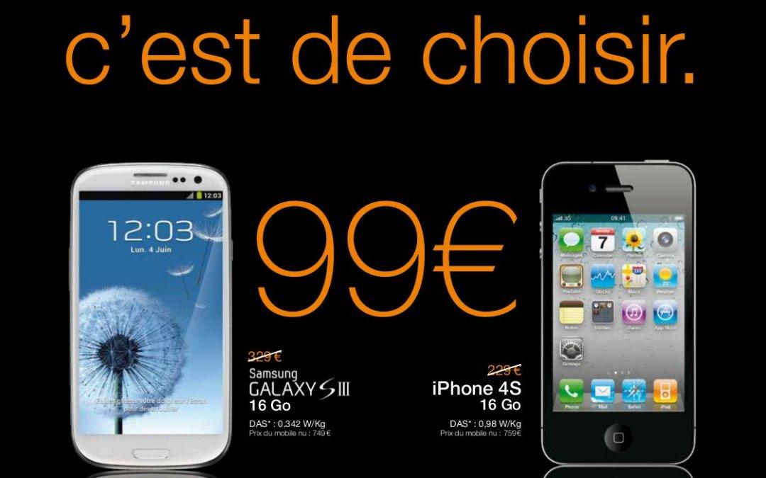 Orange Réunion propose le Galaxy S3 à….99 € !