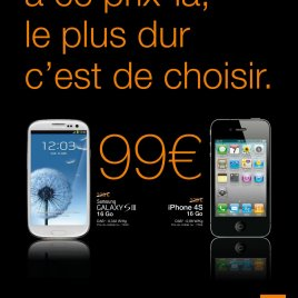 Galaxy S3 et Iphone en promo chez Orange