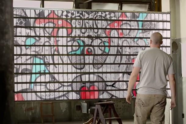 Une oeuvre d'art réalisée avec ….400 Galaxy Note 2 !