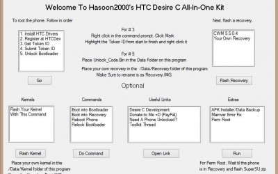 HTC Desire C AIO Toolkit