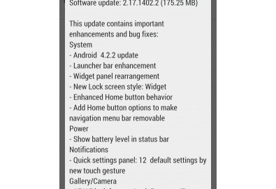 Android 4.2.2 update available