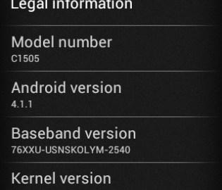 Download latest Xperia E Update
