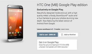 HTC M8 Google Play Edition
