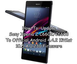 Update Sony Xperia Z