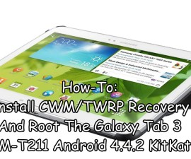 Install CWM/TWRP Recovery