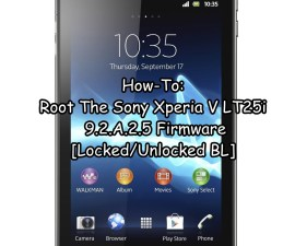 Root The Sony Xperia V LT25i 9.2.A.2.5