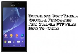 Firmware For The Sony Xperia