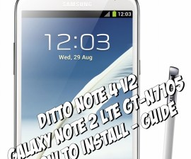 Install Ditto Note 4 ROM