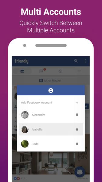 تحميل برنامج Friendly for Facebook