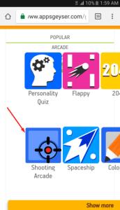قم بعمل لعبة مع appsgeyser