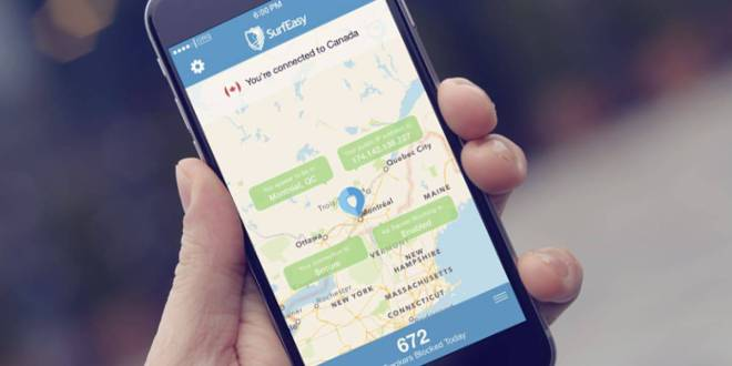 SurfEasy Secure Android VPN تطبيق بمميزات رائعة منها حماية هاتفك من التجسس ، VPN سريع ومجاني وغيرها من المميزات