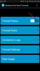 تنزيل Mobiwol NoRoot Firewall