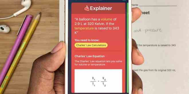 تطبيق Socratic لحل جميع المعادلات الرياضية والكيمياء وأسئلة التاريخ من خلال كاميرا الهاتف