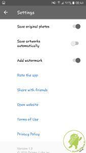 Androidare primsa impostazioni