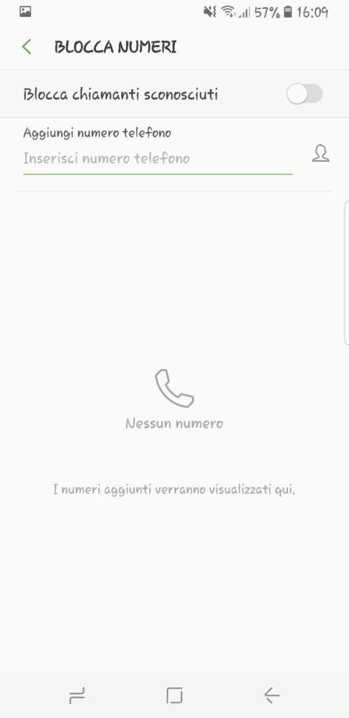 bloccare chiamate su android