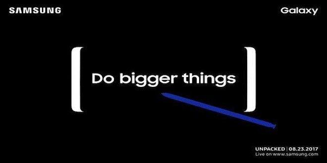 presentazione galaxy note 8