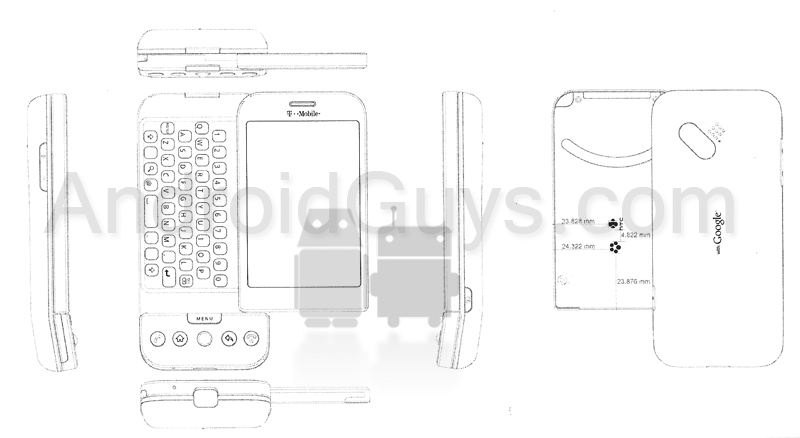 First Google Android phone bent? Wireframe of HTC G1 for T