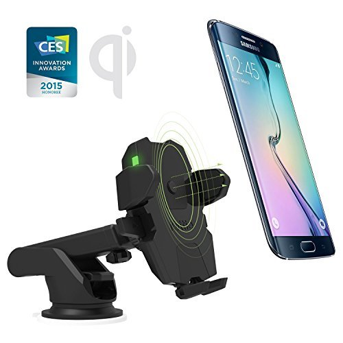 iOttie Easy One Touch Wireless Qi Standard Car Mount Charger for Galaxy S6/S6 Edge