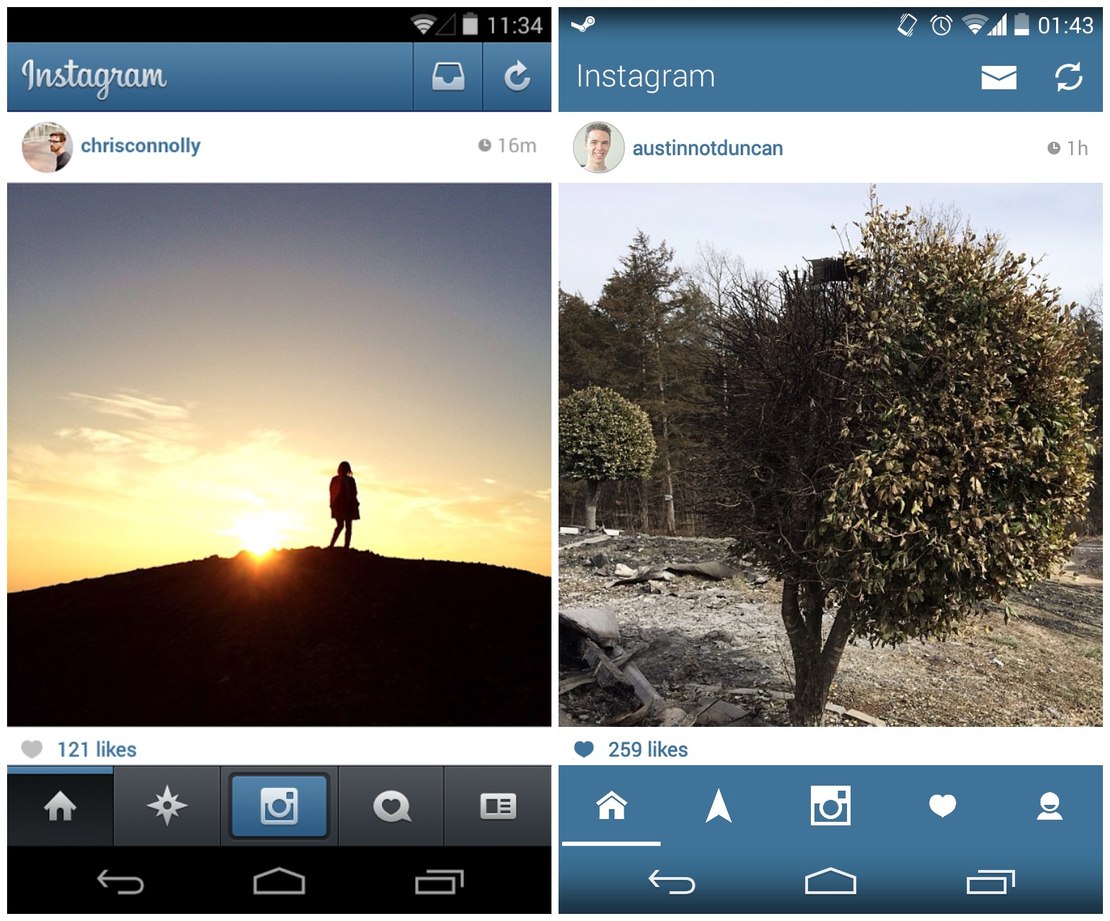 Instagram for Android gets an unofficial Holo makeover