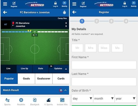 Review for the Betfred Android app