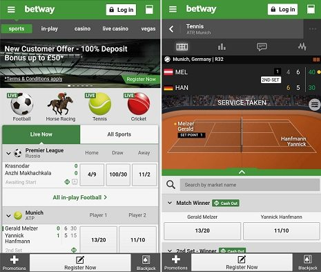 New Betway Android app
