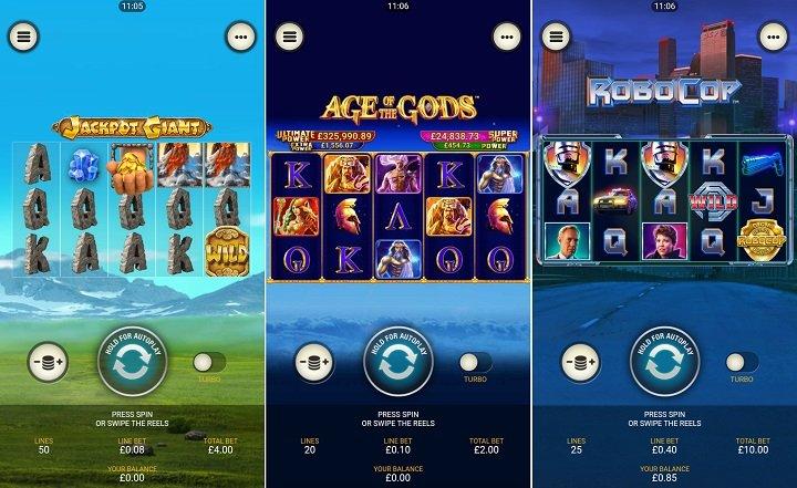 games on bgo's casino app