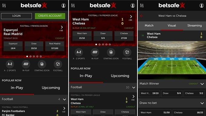 Download the betsafe app