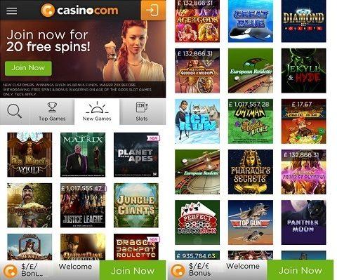 App review for casino.com