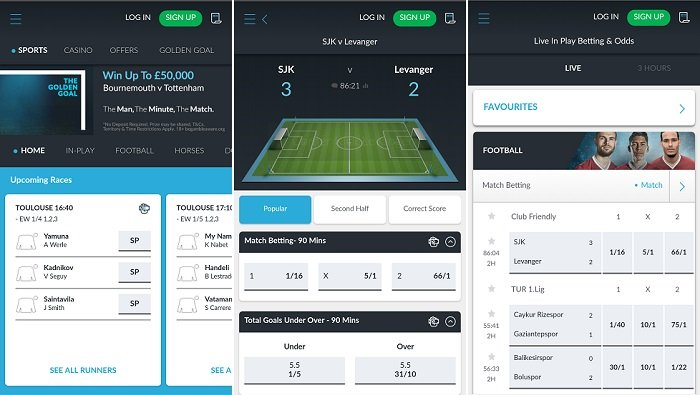 Mobile app for Android by BetVictor