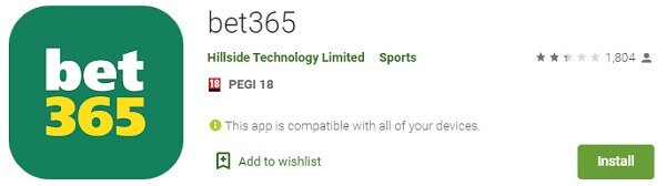 bet365 in Google Play