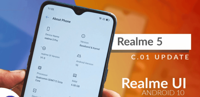 Android 10 for Realme 5