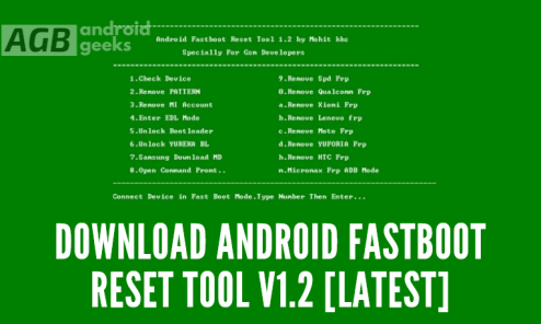Download Android Fastboot Reset Tool v1.2