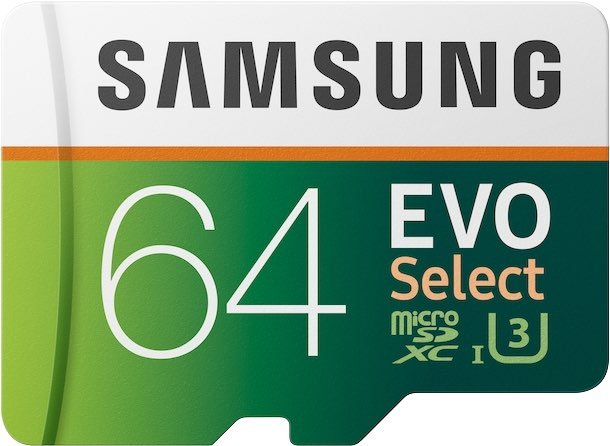 Selected Cropped Samsung 64GB EVO,