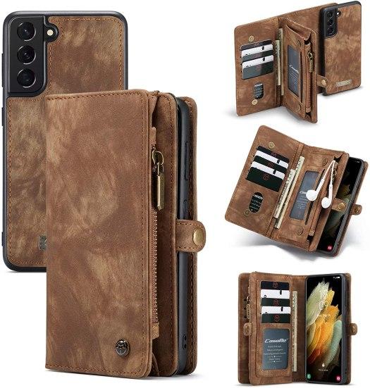 Akhvrs Cowhide Leather Wallet Case Galaxy S