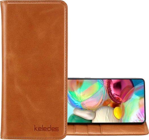 Keledes Leather Wallet Galaxy A71 4g Case Render