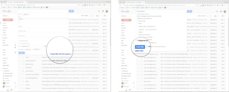 How to add a filter in Gmail