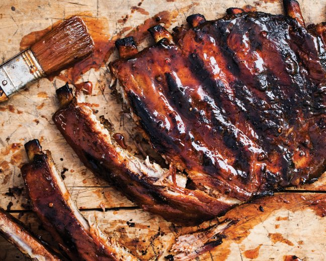 barbecue-ribs-on-grill-wallpaper Get smoky with these barbecue wallpapers Android