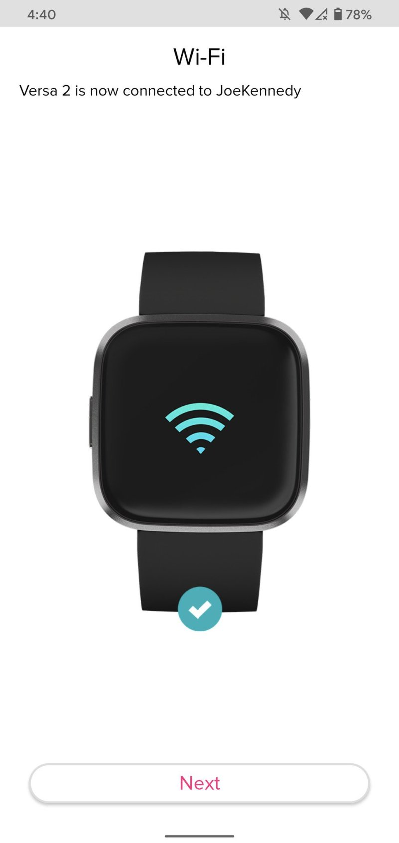 Setting up a Fitbit Versa 2 with the Android app