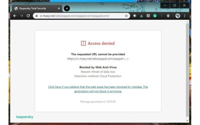 Kaspersky Browser Extension Block Site