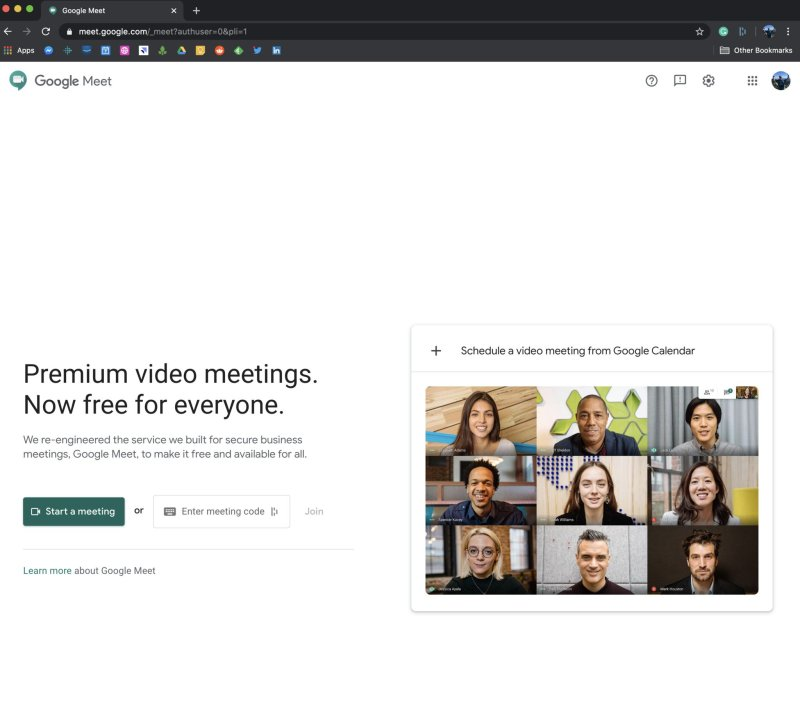 Google Meet Code - non-G Suite account user