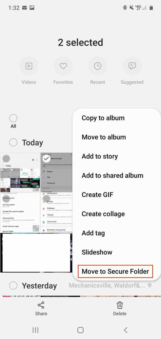 Move Images To Secure Folder