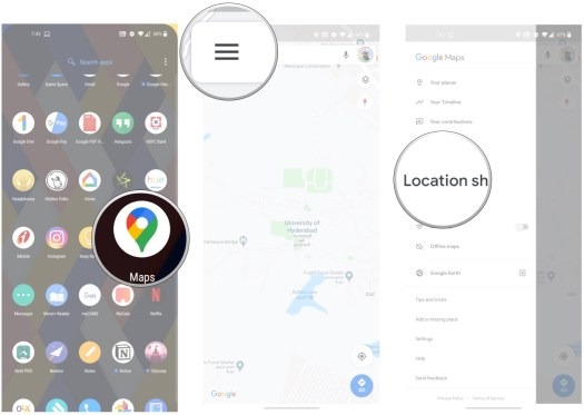 How to share your location in Google Maps